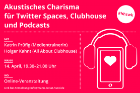 Akustisches Charisma für Twitter Spaces, Clubhouse und Podcasts